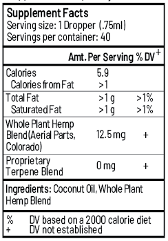 Daily hemp oil full spectrum and whole plant