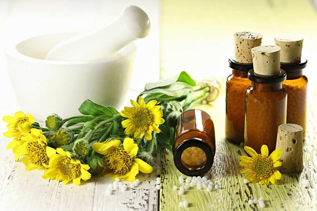 Arnica flowers in pill form and flower for cbd facial cream