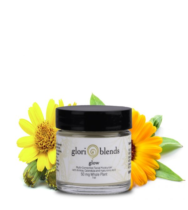 glow facial cream with cbd for anti aging and cleaning